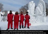 Dua Pemahat Terbaik Indonesia Raih juara china Harbin International Snow Sculpture Competition