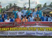 Walikota Dumai Membuka Secara Resmi Tournament Voli KNPI Dumai Barat CUP.