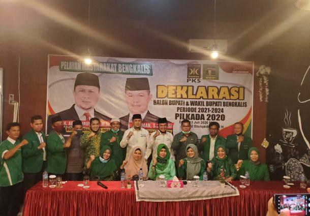 PKS dan PPP Resmi Deklarasikan Pasangan Balon Bupati dan Wakil Bupati Bengkalis Abi Bahrun - Herman