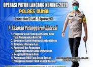 Polisi Razia Secara Patroli Hunting, Operasi Patuh Lancang Kuning 2020 Polres Dumai Dimulai Hari Ini